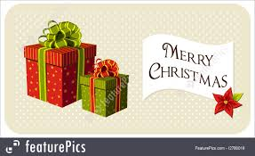 illustration of christmas gifts boxes