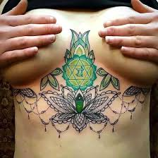 breast chakra tattoo idea