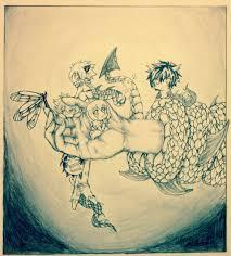my baby dragon my blue fairy douji art project by inubaki on