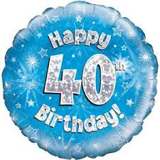 40th birthday balloons delivered happy 40th birthday holographic balloon delivered inflated in a