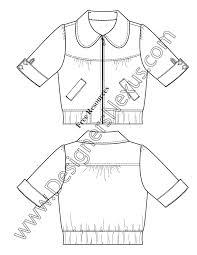 peter pan collar jacket flat fashion sketch template free art