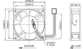 amazon com adda 120mm x 38mm new case fan 12v dc 200cfm