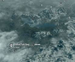 Skyrim World Map by Image Skyrim Map Cracked Tusk Keep Jpg Elder Scrolls Fandom