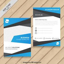 blue abstract business flyer template vector premium download