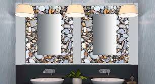 Glass decorative mirrors Contemporary Bathroom Miami by