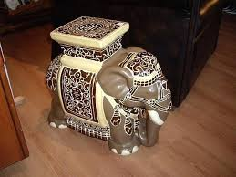 elephant end tables ceramic elephant end table ceramic brown elephant plant stand or small end