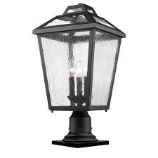 outdoor pier mount lights z lite bayland 3 light outdoor pier mount light in black 539phbr