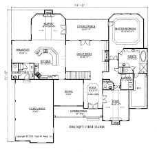Corner Lot Floor Plans Traditional Style House Plan 4 Beds 3 50 Baths 4138 Sq Ft Plan
