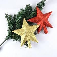 Wholesale Christmas Home Decor Wholesale Christmas Tree Topper Decor Xmas Glitter Star Shiny