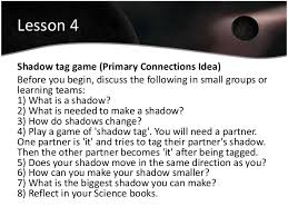 light and shadows lesson plans the earth moon and sun teaching unit