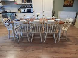 stunning large solid pine farmhouse table u0026 8 solid pine chairs