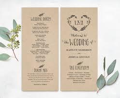 wedding programs diy templates printable wedding program template simple wedding programs
