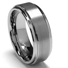 s tungsten engagement rings 8mm high matte finish s tungsten ring wedding band