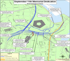 pentagon map get there traffic alert for thursday