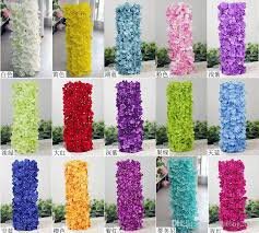 artificial floral arrangements 2018 artificial hydragea flower with plastics square shape base fake