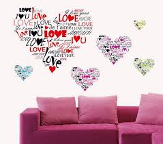 love you sweet heart wallpapers multi language i love you heart wall sticker 7124 removable wall