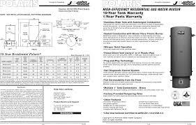 polaris water heater pr100 34 2nv user guide manualsonline com