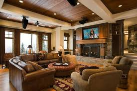modern rustic living room design ideas like the painted beams
