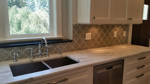 Glass Kitchen Backsplash Tiles Taupe Glass Kitchen Backsplash Home