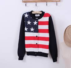 American Flag Cardigan Red White And Blue Cardigan On The Hunt