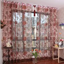 custom made elegant sheer curtains of polyester buy red sheer