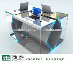 Shop Computer Desk Delicate Computer Table Design For Digital Products Display Shop