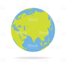 World Map Cartoon by Green And Blue Cartoon World Map Globe Vector Illustration Stock