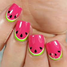 nail art tutorial watermelon make me pretty pinterest