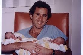 George W Bush Birth First Dads U0027 George W Bush With His Twin Daughters Barbara And