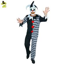 Mens Clown Halloween Costumes Aliexpress Buy Deluxe Mask Killer Clown Adults Costumes