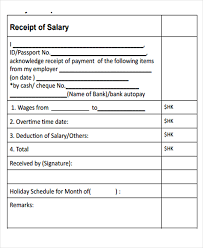 salary invoice template