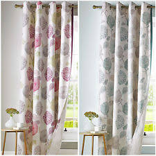 Pastel Coloured Curtains Floral Polycotton Curtains With Pencil Pleat Ebay