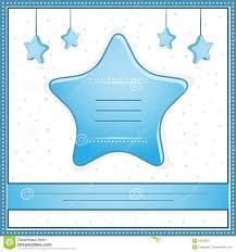 Baby Invitation Card New Baby Boy Shower Invitation Card Royalty Free Stock Image