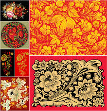 russian ornate patterns vector free stock vector