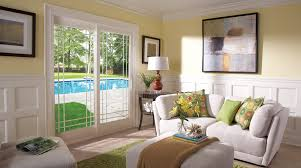 Single Patio Doors With Built In Blinds French Doors Sliding Glass Patio Door Installaton By Window World