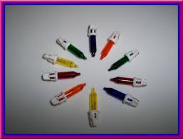 25 x 6 volt replacement mini light bulbs multicolor mini