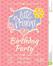 Birthday Invitation Card Download Little Princess Birthday Party Vector Poster Or Invitation Card