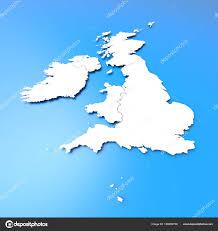 British Isles Map Blank by 3d British Isles Map U2014 Stock Photo Malewitch 158389756