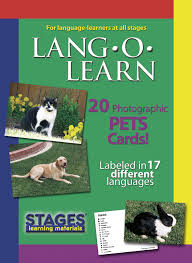 lang o learn pets cards stages learning materials