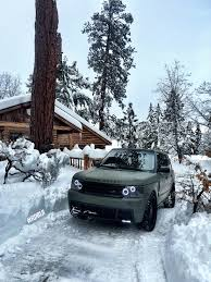 green range rover rdbla matte green range rover enjoying winter rdb la five