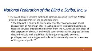 National Federation Of Blind The Legal Year In Review Digital Access Cases