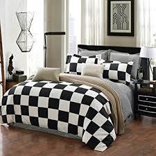 Black And White King Bedding Amazon Com Qzzielife Microfiber 1500t 4pc Bedding Duvet Cover
