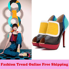 2014 new spring fashion red bottom pointed toe rivets women heels