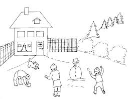 coloring pages winter snowball winter coloring pages of