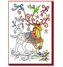 amazon com christmas cards for coloring by adults and children