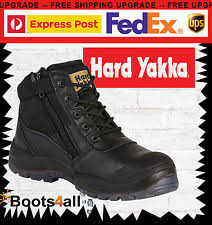 yakka s boots s leather yakka with steel toe ebay