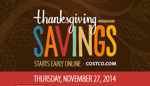 costo thanksgiving weekend savings start bright and early