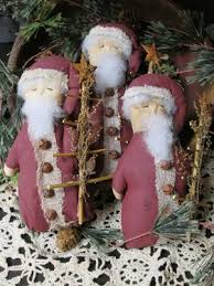 olde thyme santa w german twig tree handmade set of 3 stuffed