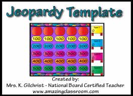 Jeopardy Template Promethean Activinspire Activboard Flipchart File Jepordy Template