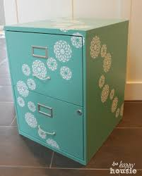 Teal File Cabinet One Bliss Fully Flowered Chalk Painted Stencilled Filing Cabinet